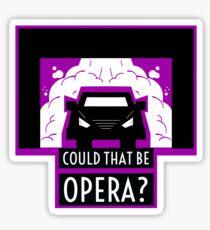 Pegatina Opera - Bienvenido a Night Vale