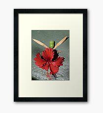 Hibiscus Faery Framed Print