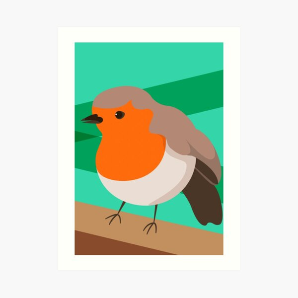 Robin British Bird Art Print