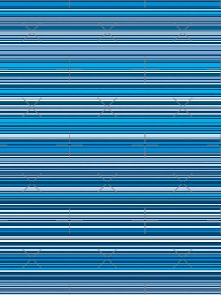 Viele bunte Streifen in Blau quer von pASob-dESIGN
