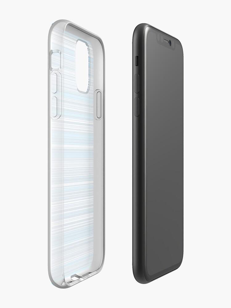 Alternative Ansicht von Viele bunte Streifen in Blau quer iPhone-Hülle & Cover