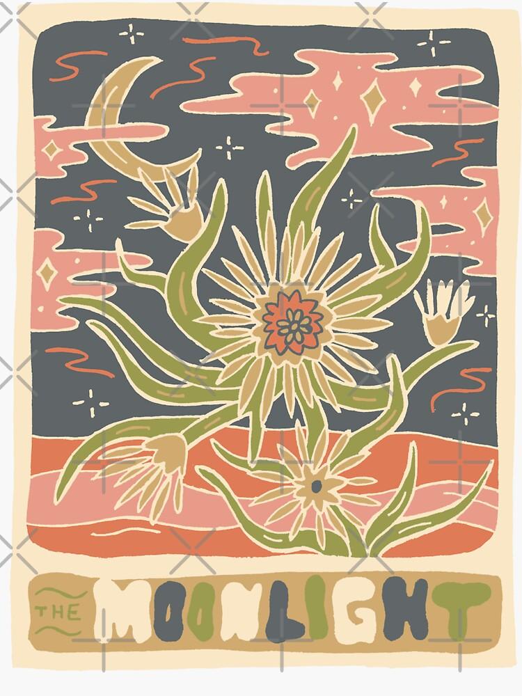 Cactus Tarot Cards- Moonlight by doodlebymeg