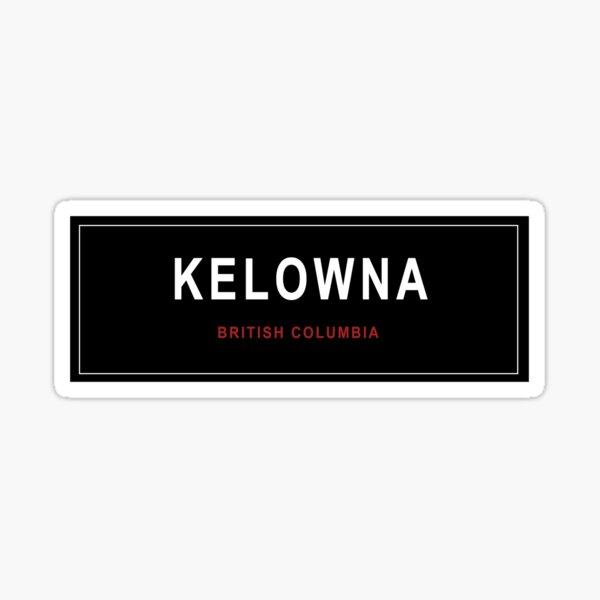 Kelowna BC Sticker Sticker