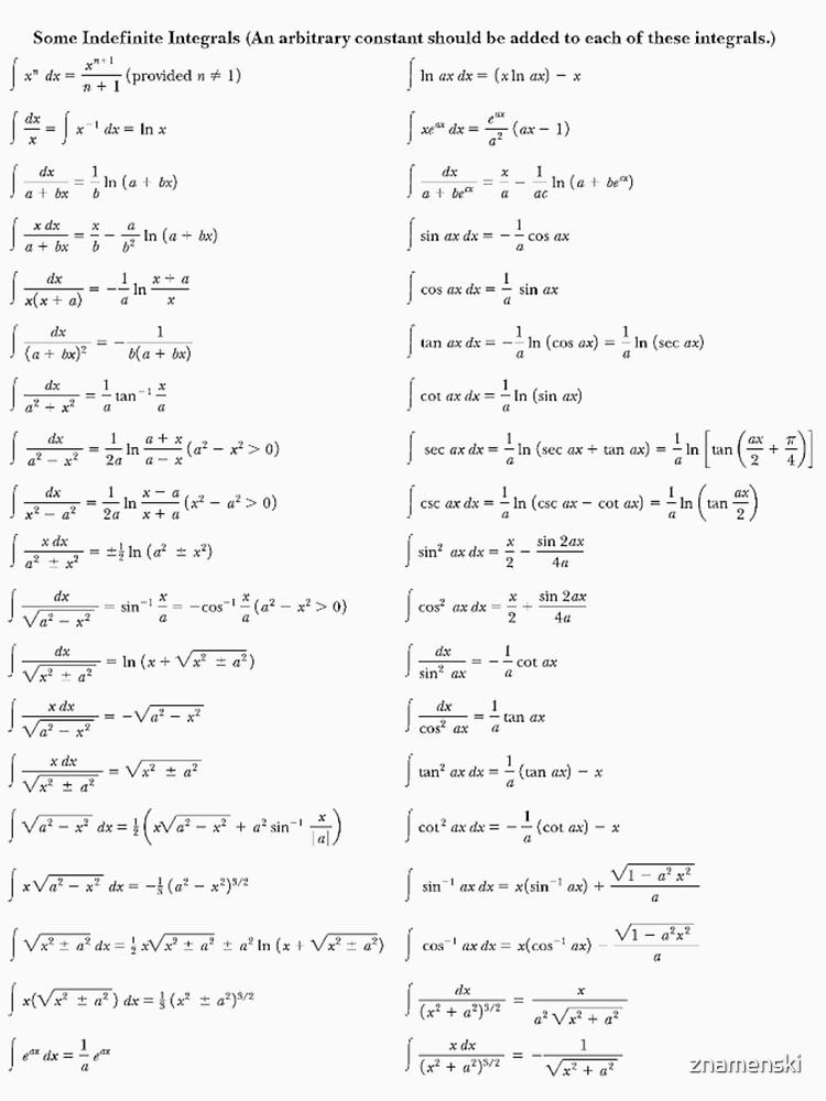 #Integrals #Calculus #IndefiniteIntegrals #ArbitraryConstants #Physics #Science #CalculusBased #CalculusBasedPhysics by znamenski