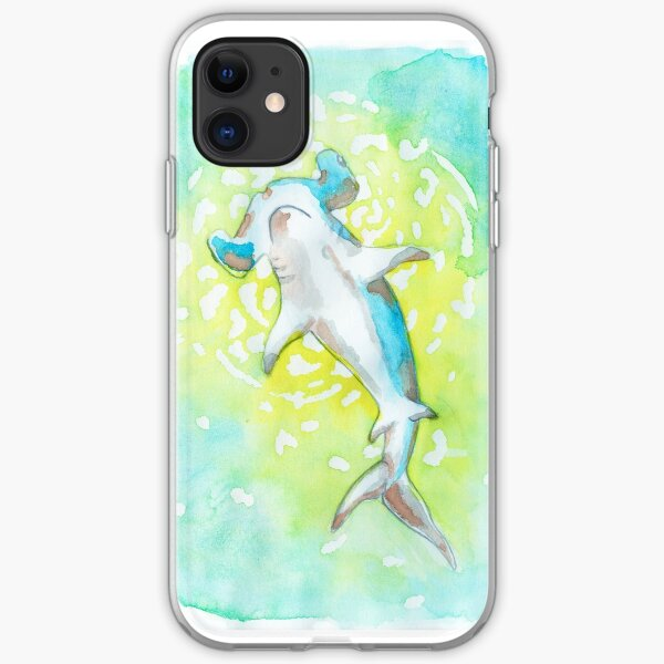 Watercolour Hammerhead Shark  iPhone Soft Case