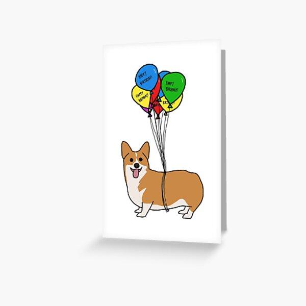 Flying Corgi Greeting Card