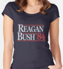Vintage Reagan Bush 1984 T-Shirt Women's Fitted Scoop T-Shirt