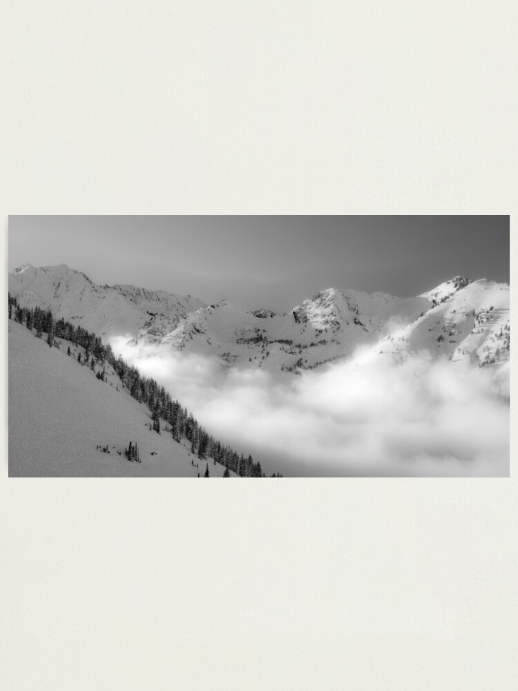 Alternate view of Skiing the clouds    Photographic Print