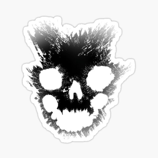 Emile Skull Halo Reach Sticker