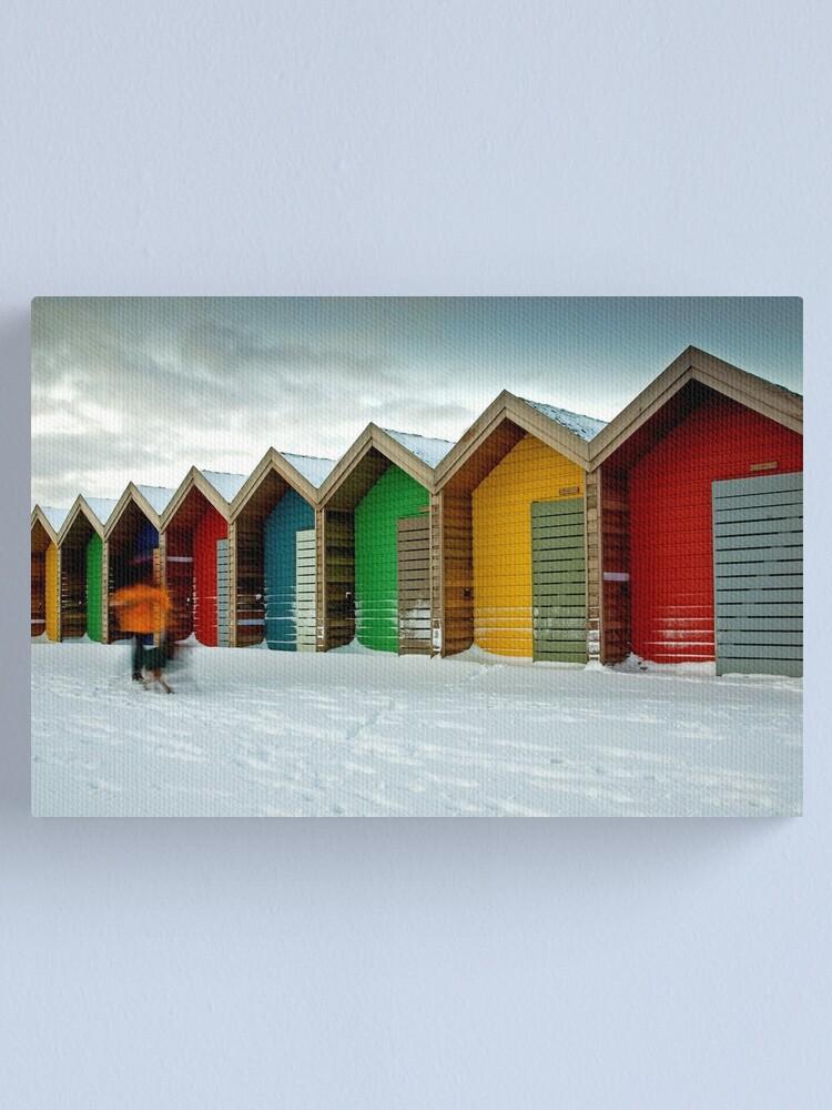 Alternate view of Beach huts Canvas Print