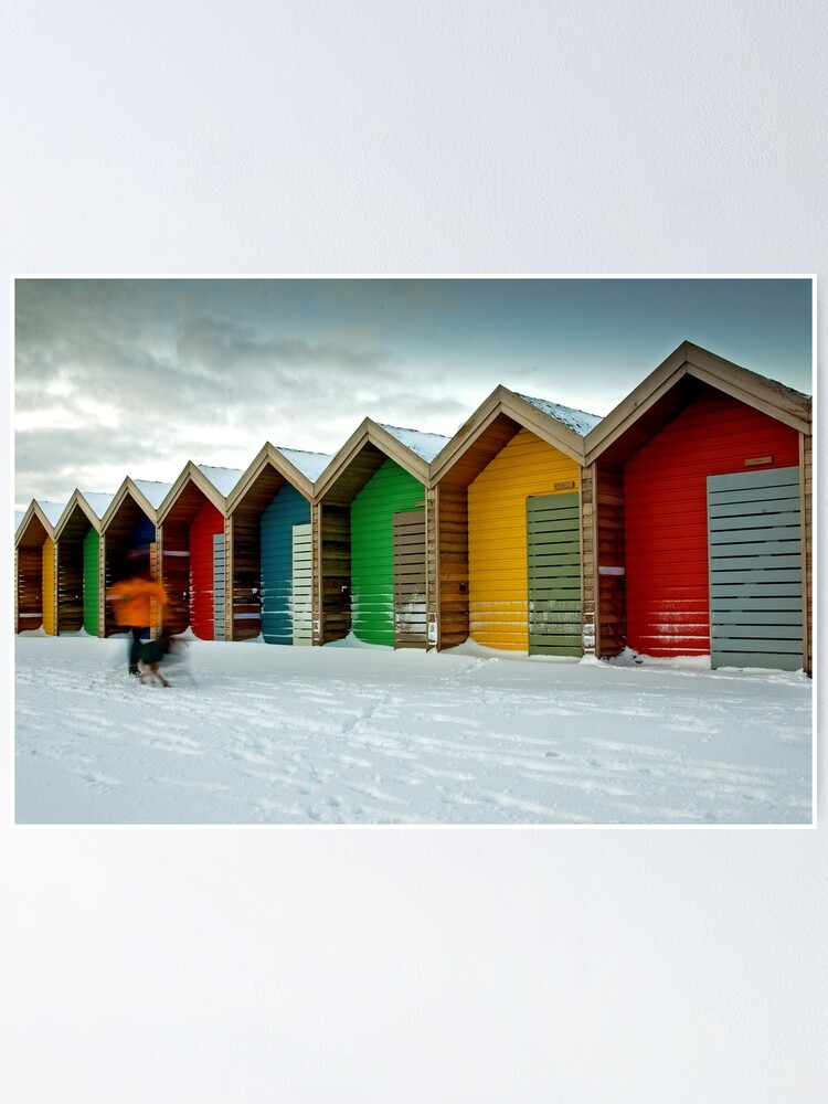 Alternate view of Beach huts Poster