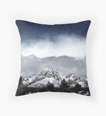 Red Rock Snow, Panoramic No. 4 Throw Pillow