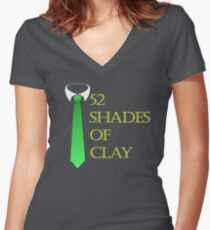 52 Shades of Clay Fitted V-Neck T-Shirt