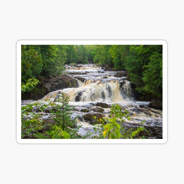 Cascade Falls in Wisconsin's Copper Falls State Park Sticker