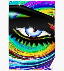 Psychedelic Eye Mesmerizing Look Poster