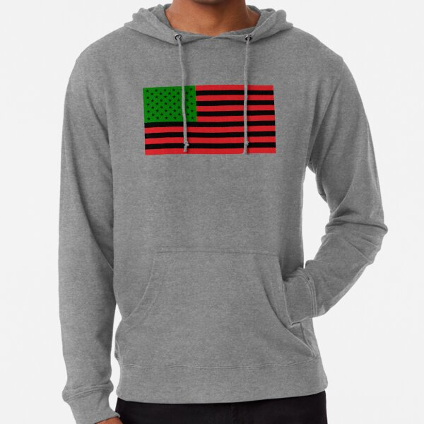 Afroamerikaner-Flaggen-rotes schwarzes grünes T-Shirt Leichter Hoodie