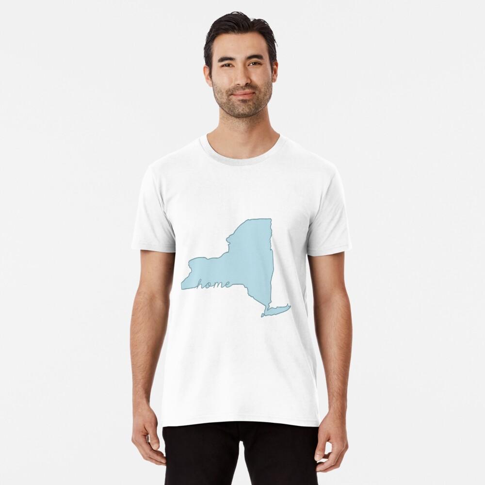 New Yorker Heimatstaat blau Premium T-Shirt