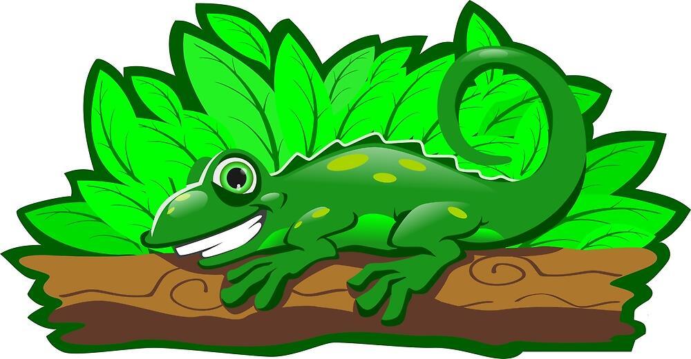 Happy Reptile - Happy Lizard by sketchtodigital