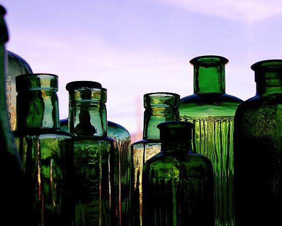 Green Bottles by CezB