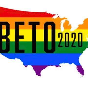 Beto O'rourke 2020, President, Gay Pride, Beto 2020 by jasonaldo00