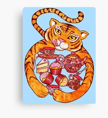 The Tiger Who Came To Tee Canvas Print