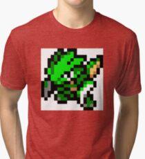Pokemon 8-Bit Pixel Scyther 123 Tri-blend T-Shirt