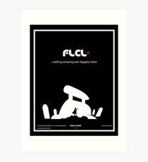 Lámina artística Cartel de Fooly Cooly (blanco)
