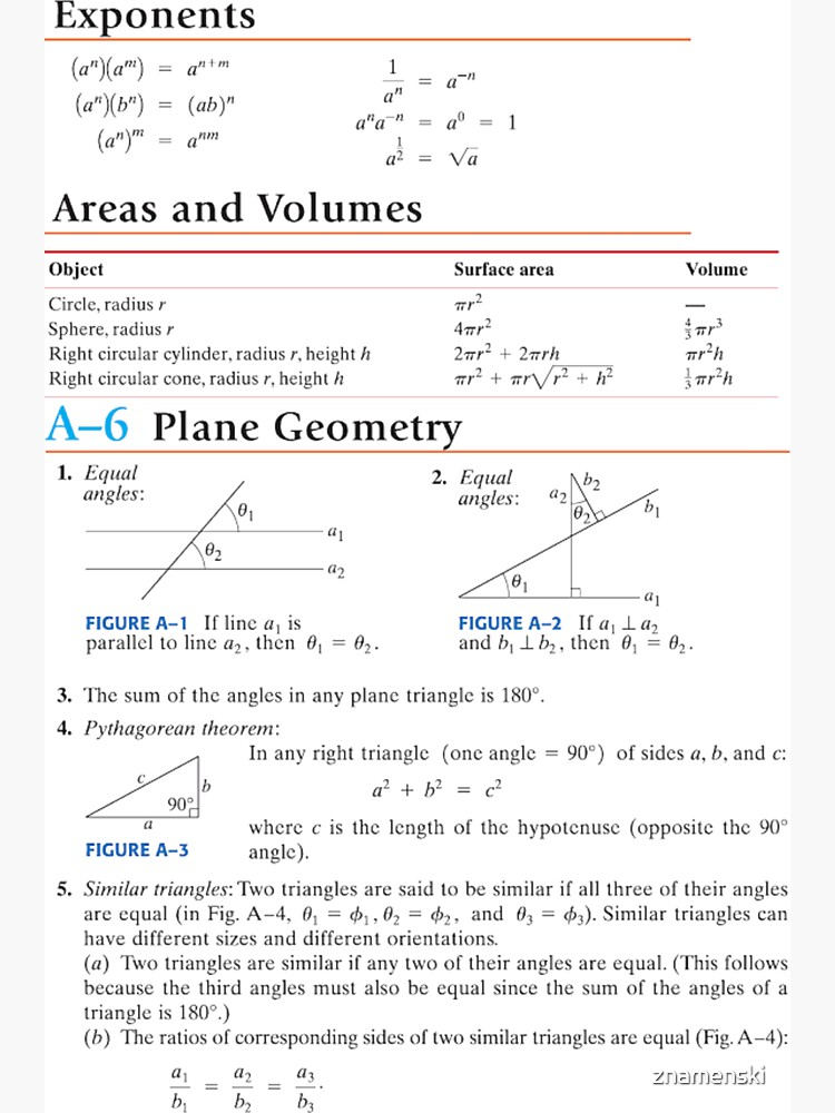 #Plane #Geometry #Area #Volume #Circle #Sphere #Pythagorean #Triangles by znamenski