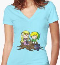 Zelda X Link T-shirt col V femme