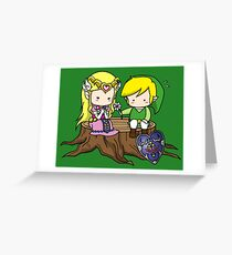 Tarjeta de felicitación Zelda X Link