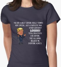 Funny Trump Gifts For Godson Women's Fitted T-Shirt