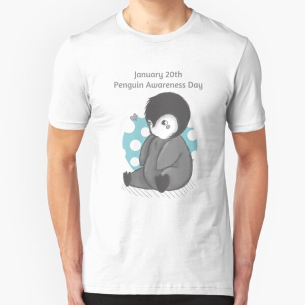 Penguin Awareness Day: Always January 20 Slim Fit T-Shirt