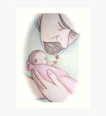 A Father's First Embrace Art Print