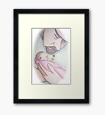 A Father's First Embrace Framed Print