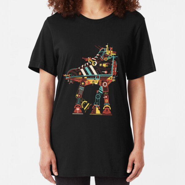Robot Walker Slim Fit T-Shirt
