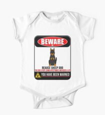 Beware Of Beauce Sheep Dog This Dog Is Loving and Kisses A Lot Sign Sticker - Funny Gift For Beauce Sheep Dog Dog Owner One Piece - Short Sleeve