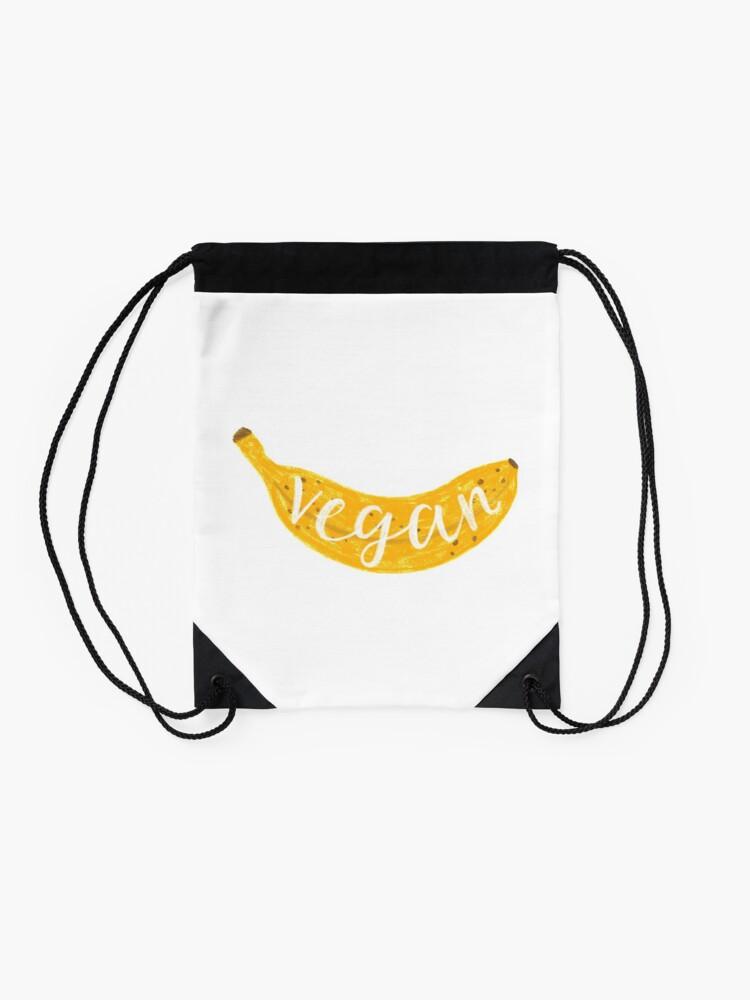 Alternate view of Vegan banana Drawstring Bag