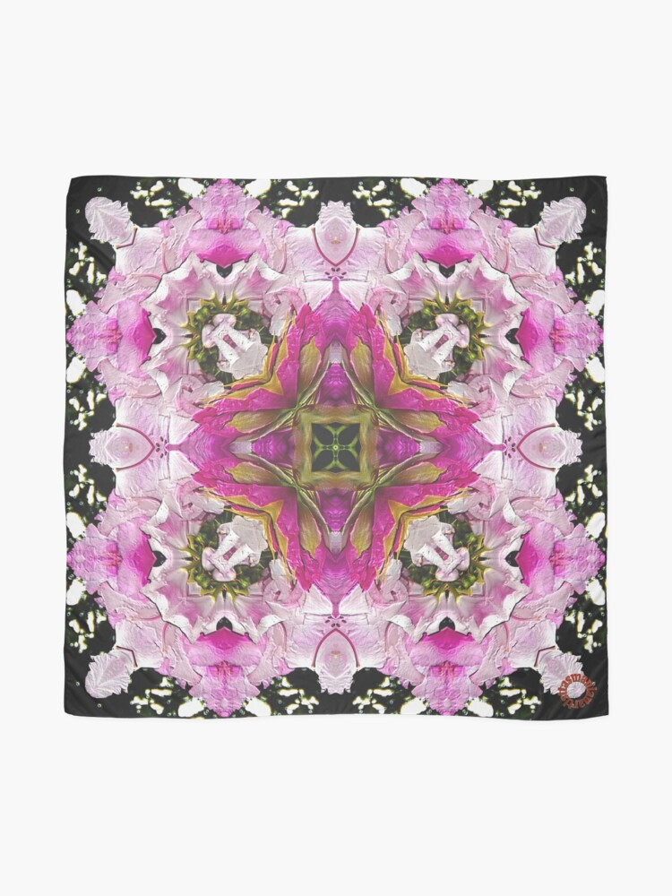 Alternate view of D1G1TAL-M00DZ ~ FLORAL ~ Square Dance  by tasmanianartist 301218 Scarf