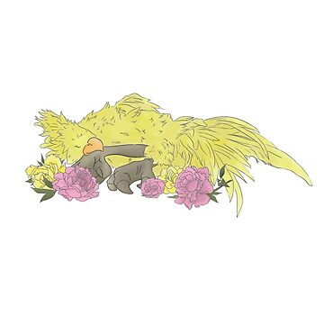 Sleeping Chocobo by trashcannie