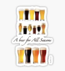 A beer for all season  Sticker
