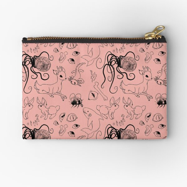 the family 1 - coral Zipper Pouch