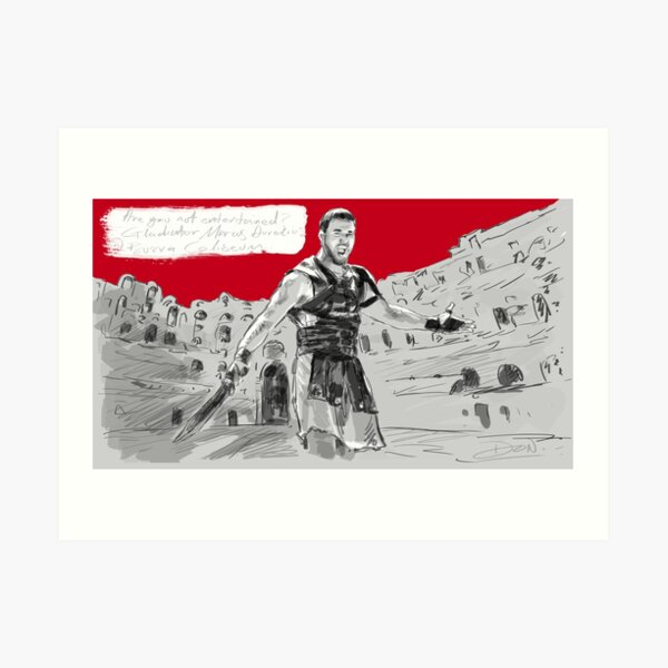Bosra Roman Coliseum at Syria Poster Sticker & Gift Art Print