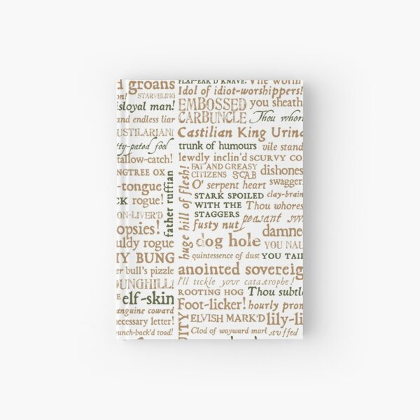 Shakespeare's Insults Collection - Revised Edition (by incognita) Hardcover Journal
