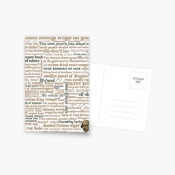 Colección de insultos de Shakespeare - Edición revisada (por incognita) Postal