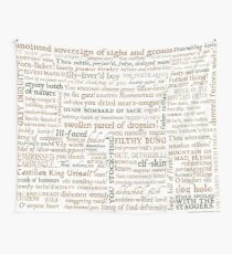 Shakespeare's Insults Collection - Revised Edition (by incognita) Wall Tapestry