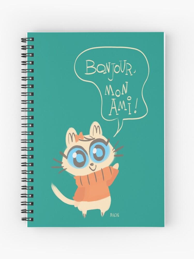 Bonjour Mon Ami Spiral Notebook