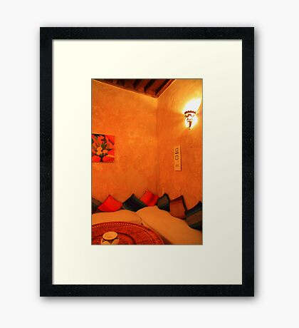 Sit a while, Moroccan style... Framed Print