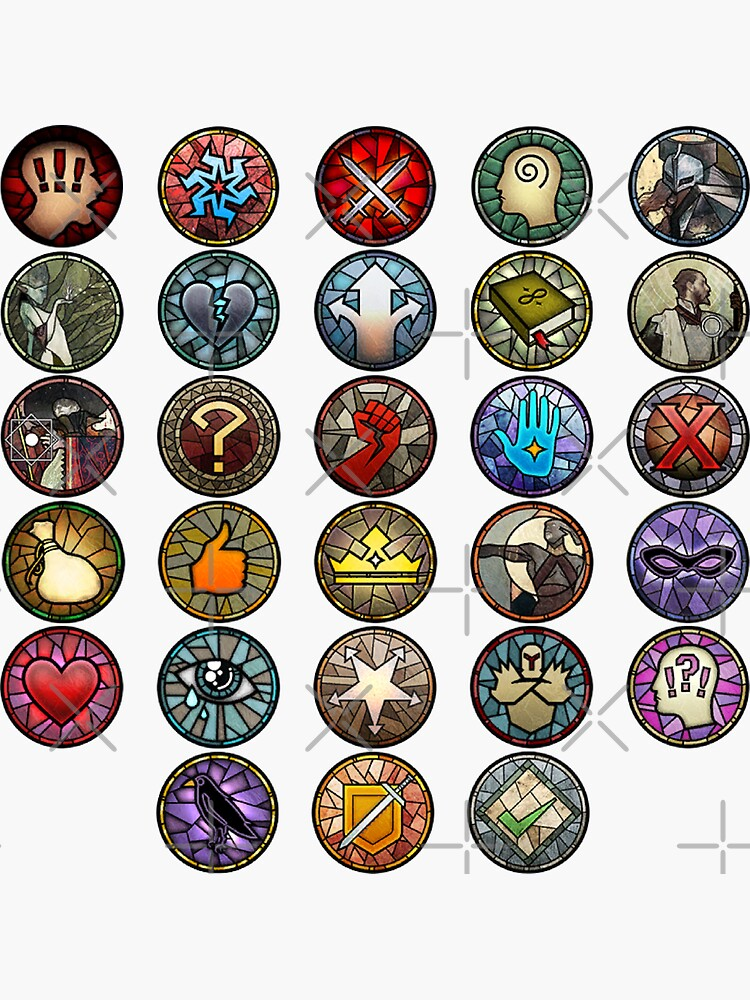 Dragon Age Inquisition Dialogue Wheel Icons   Dragon Age Stickers by surik-