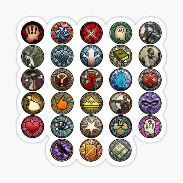Dragon Age Inquisition Dialogue Wheel Icons | Dragon Age Stickers Sticker