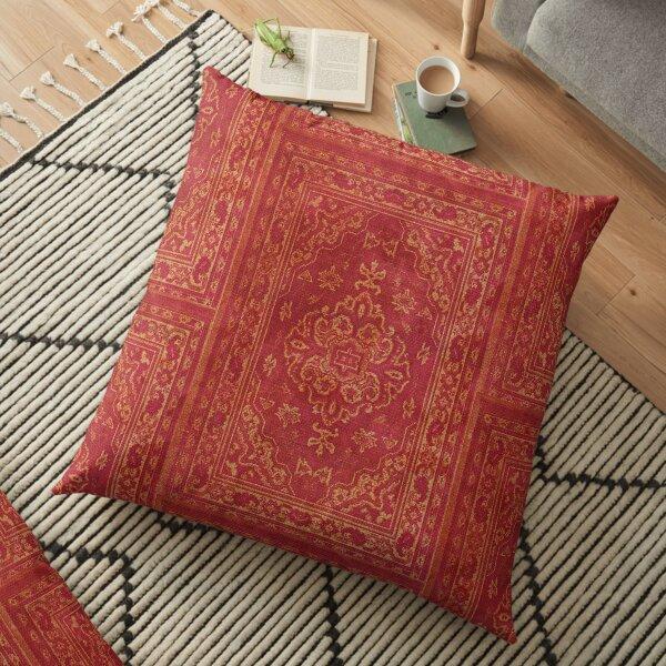 Persian carpet look in orange Floor Pillow